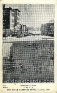 The great Hartford Conn.USA Flood, March, 1939Disaster Disasters, Postcard Po...