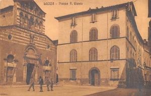 Jave, Indonesia Old Vintage Antique Post Card Lucca, Piazza S Guisto Unused