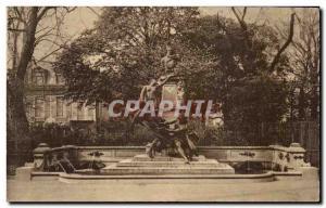 Paris Postcard Old Luxembourg Garden Monument to Delacroix & # 39Eugene by Dalou