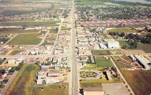 West Memphis Arkansas~Aerial View~1950s Postcard