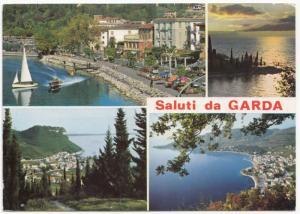 Saluti da GARDA, Italy, multi view, 1993 used Postcard