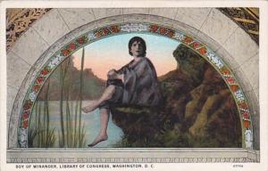 Washington D C Library Of Congress Boy Of Winander Mural Curteich