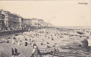 Bathing Beach, Hastings (Sussex), England, UK, PU-1927