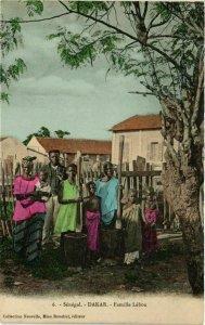 CPA AK Dakar - Famille Lébou - Folklore SENEGAL (778190)