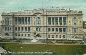 Australia Queensland Brisbane queen gardens executive buildings early postcard
