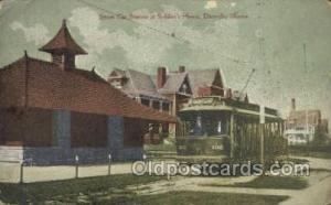 Street Car Station, Soldiers Home, Danville, IL, Illinois, USA Train Railroad...