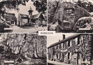 RP; Four Views of BARBIZON, Seine et Marne, France, PU-1955