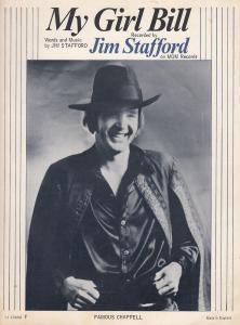 My Girl Jim Stafford 1960s Sheet Music