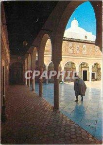 The Modern Postcard of Zawia Sidi Sahib gold Barber's Mosque