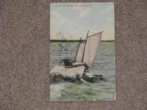 U.S. Life Saving Crew, Buffalo, N.Y., 1911, used vintage card