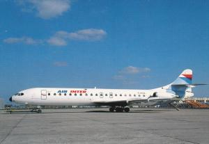 AIR INTER Airlines Caravelle Super-12 Jet Airplane, Paris-Orly , France , 80-90s