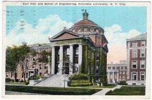 Columbia University, N.Y. City, Earl Hall and School of Engineering