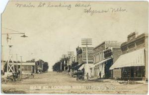 RP Main St. Looking West Ulysses Nebraska NE 1911