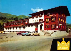 Gasthof Krone Schlins Vorarlberg Vintage Cars Auto Postcard