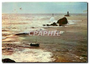 Modern Postcard The Pointe du Raz Fishing bars in common