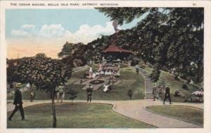 Michigan Detroit The Cedar Mound Belle Isle Park 1926