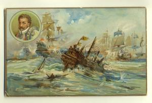 su1051 - Spanish Armada - postcard by Prices Patent Candle Company