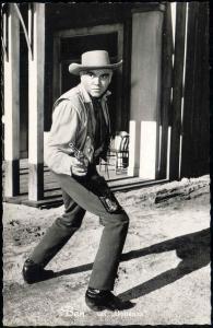 BONANZA Movie Star Postcard, Ben Cartwright, Actor Lorne Greene (1960s) RPPC (1)
