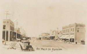 RP: FAIRVIEW , Oklahoma , 1908 ; Main Street (dirt)