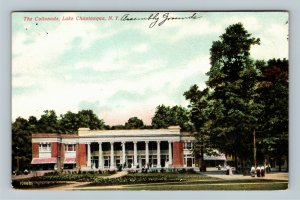 Lake Chautauqua NY, The Collonade, Vintage New York c1910 Postcard