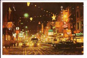 Dundas and Clarence, Downtown London, Ontario, Christmas Decorations at Night
