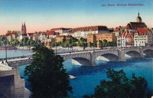 Bridge, Basel Mittlere Rheinbrucke, BASEL, Switzerland, 1900-1910s
