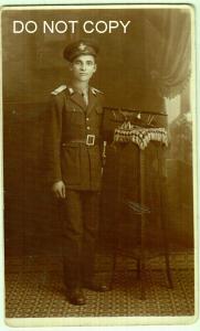 RPPC, Man in Uniform / Romanian Aviator