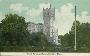 Washington DC Flag Pole Near Gothic Scott Building @ National Soldiers Home~1910