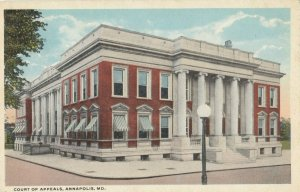 ANNAPOLIS , Maryland , 1910s ; Court of Appeals