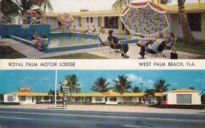 Florida West Palm Beach Royal Palm Motor Lodge With Pool 1958