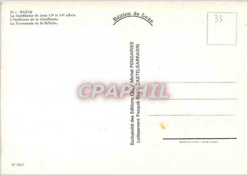 Postcard Modern Bazas La Cathedrale St John The Interior of the Cathedral of ...