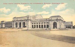 Washington D.C. Train Postcard Union Station, President's & Ambassador&#...