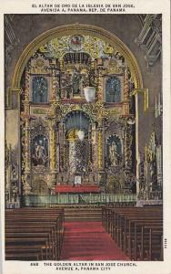 The Golden Altar in San Jose Church,  Avenue A,   Panama City,  Panama,  PU_1937