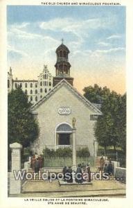 Ste Anne De Beaupre Canada, du Canada Old Church & Miraculous Fountain  Old C...