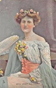Raphael Tuck Series #4452 Miss Janet Alexander Celebrities of the Stage Postcard
