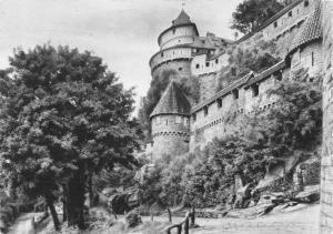 France Haut Koenigsburg Alsace L'enceinte et Tour a double crenelage