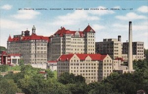 Saint Francis Hospital Convent Nurses Home And Power Plant Peoria Illinois