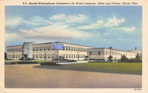 Elyria Ohio~Bendix-Westinghouse Automotive Air Brake Company~Factory~1942 Linen