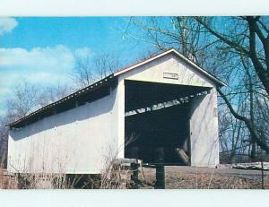 Unused Pre-1980 COVERED BRIDGE IN VIGO COUNTY Terra Haute Indiana IN t8082