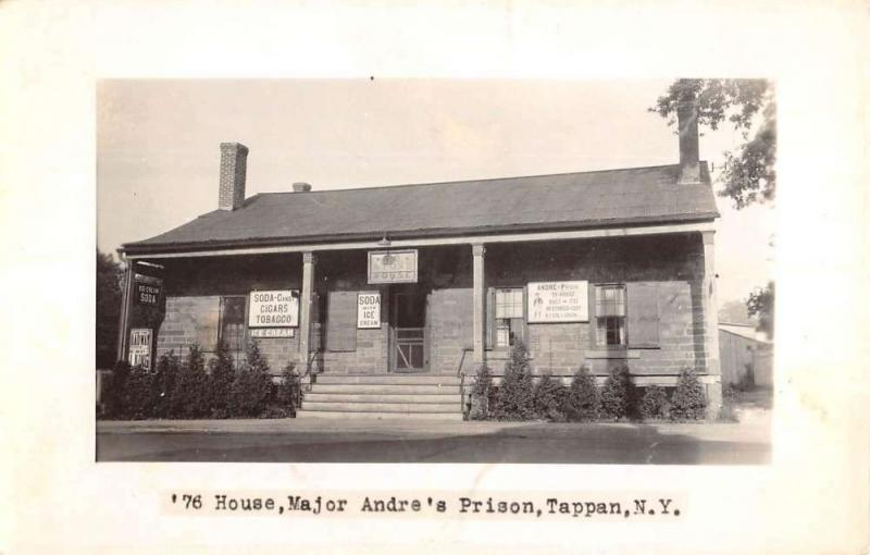 Tappan New York Major Andres Prison Real Photo Antique Postcard KA688926