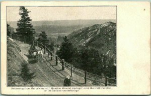 1910s Colorado Postcard Returning from the Celebrated MANITOU MINERAL SPRINGS