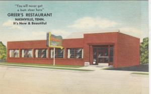 NASHVILLE , Tennessee , 30-40s; Greer's Restaurant
