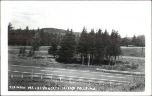 Island Falls ME Robinson Mtn & Rte 95 Real Photo Postcard