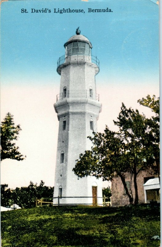 St. David's Lighthouse Bermuda Postcard