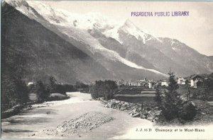 Chamonix et Le JJ 95 D Mont-Blanc France Postcard