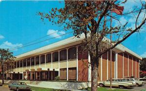 Butler Pennsylvania~YMCA~Lots of Classic Cars Parked~1970s Postcard
