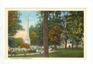 Public Square, Memorial Statue, Norristown, Pennsylvania, 1900-1910