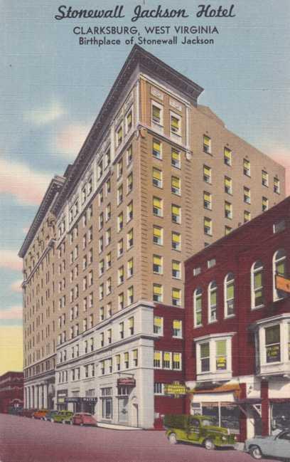 Stonewall Jackson Hotel Clarksburg Wv West Virginia Linen