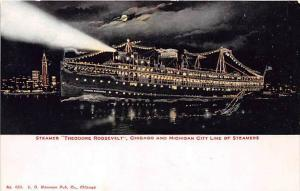 S.S. Theodore Roosevelt   Lighted at Night