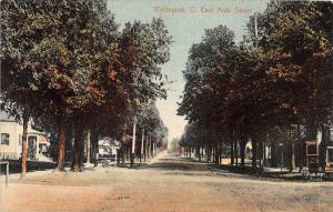 D25/ Wellington Ohio Postcard 1908 East Main Street Homes